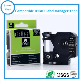 DYMO D1 12mm White on Black LabelManager marķējuma lentes 45021 1/2